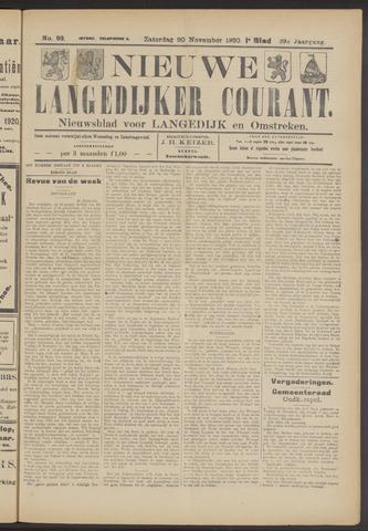 Nieuwe Langedijker Courant 1920-11-20