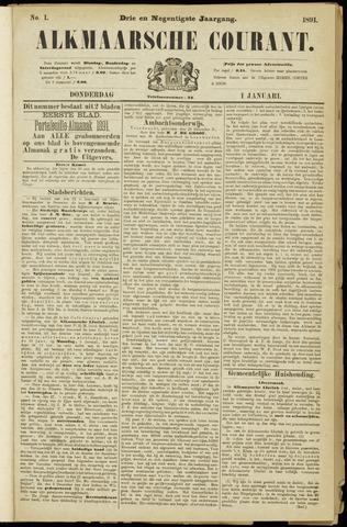 Alkmaarsche Courant 1891-01-01