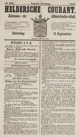 Heldersche Courant 1869-09-11