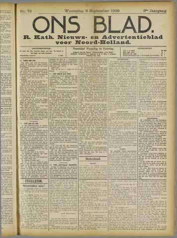Ons Blad : katholiek nieuwsblad voor N-H 1909-09-08