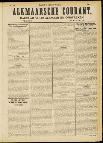 Alkmaarsche Courant 1913-08-22