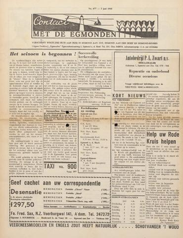 Contact met de Egmonden 1965-06-03