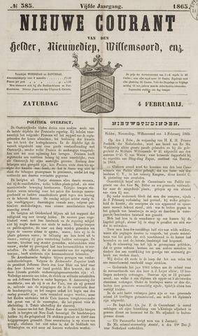 Nieuwe Courant van Den Helder 1865-02-04