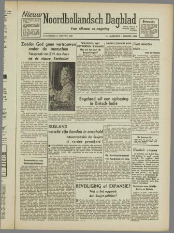 Nieuw Noordhollandsch Dagblad : voor Alkmaar en omgeving 1946-02-21
