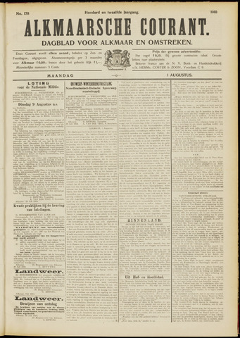 Alkmaarsche Courant 1910-08-01