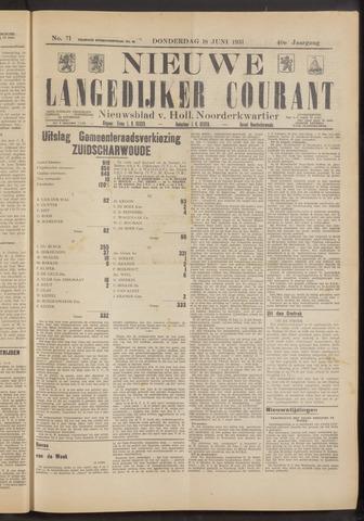 Nieuwe Langedijker Courant 1931-06-18
