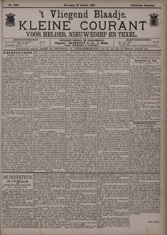 Vliegend blaadje : nieuws- en advertentiebode voor Den Helder 1890-10-22