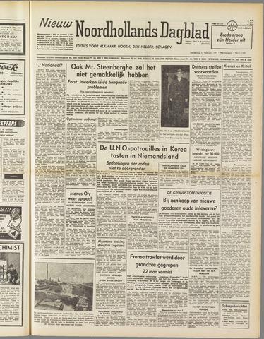 Nieuw Noordhollandsch Dagblad : voor Alkmaar en omgeving 1951-02-22