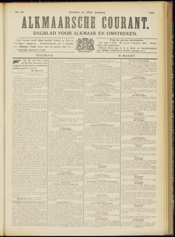 Alkmaarsche Courant 1909-03-16