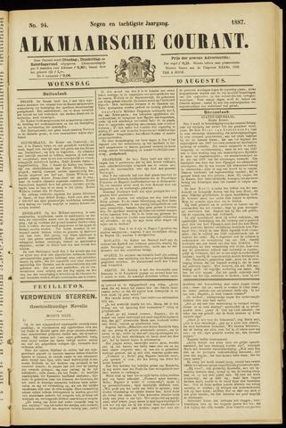 Alkmaarsche Courant 1887-08-10