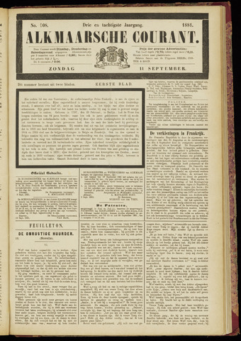 Alkmaarsche Courant 1881-09-11