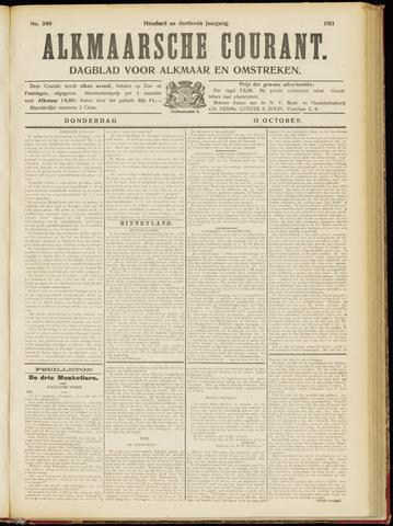 Alkmaarsche Courant 1911-10-12