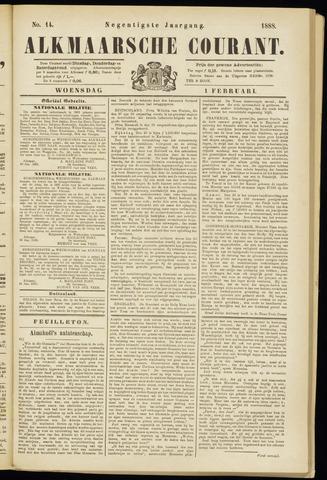 Alkmaarsche Courant 1888-02-01