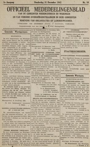 Mededeelingenblad Wieringermeer en Wieringen 1942-12-31