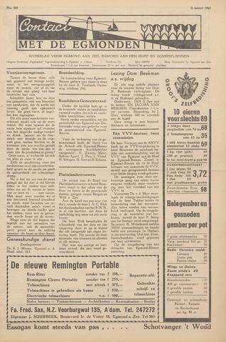 Contact met de Egmonden 1962-03-08