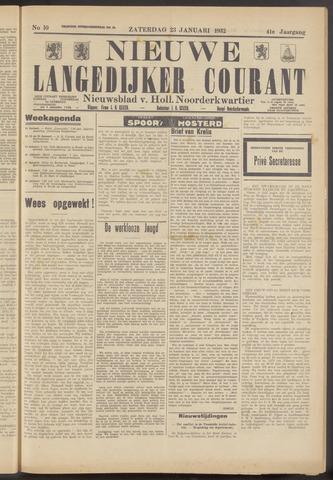 Nieuwe Langedijker Courant 1932-01-23