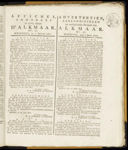 Alkmaarsche Courant 1812-07-01