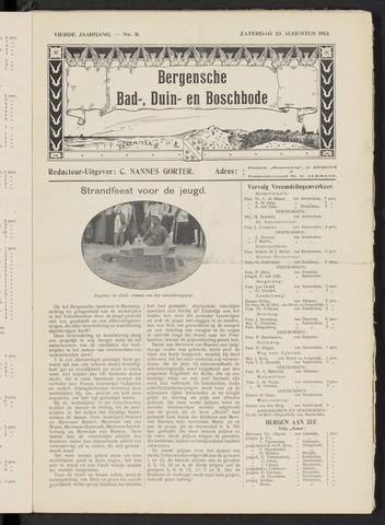 Bergensche bad-, duin- en boschbode 1913-08-23