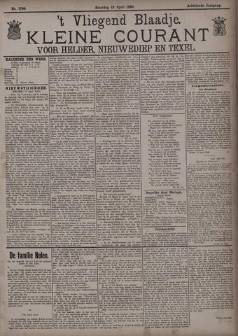 Vliegend blaadje : nieuws- en advertentiebode voor Den Helder 1890-04-12