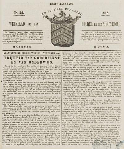 Weekblad van Den Helder en het Nieuwediep 1848-06-12