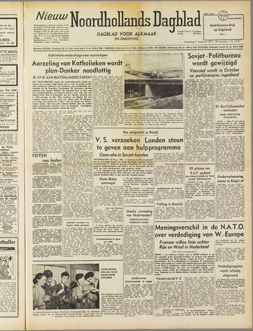 Nieuw Noordhollandsch Dagblad : voor Alkmaar en omgeving 1952-08-21