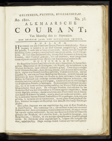 Alkmaarsche Courant 1801-09-21