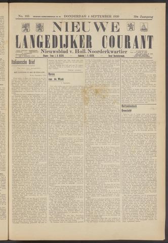 Nieuwe Langedijker Courant 1930-09-04