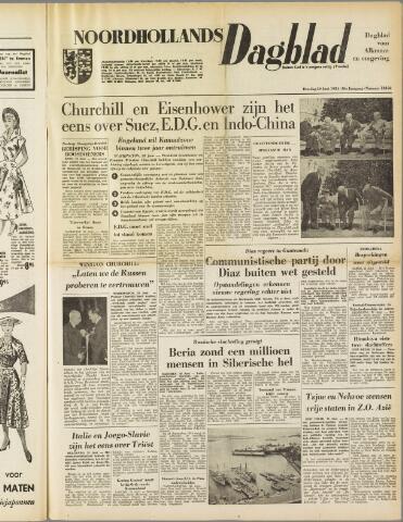 Noordhollands Dagblad : dagblad voor Alkmaar en omgeving 1954-06-29