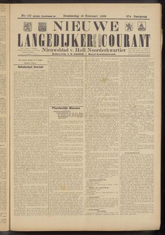 Nieuwe Langedijker Courant 1928-02-16