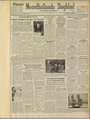 Nieuw Noordhollandsch Dagblad : voor Alkmaar en omgeving 1947-07-01