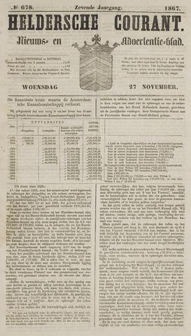 Heldersche Courant 1867-11-27