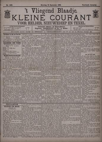 Vliegend blaadje : nieuws- en advertentiebode voor Den Helder 1886-09-25