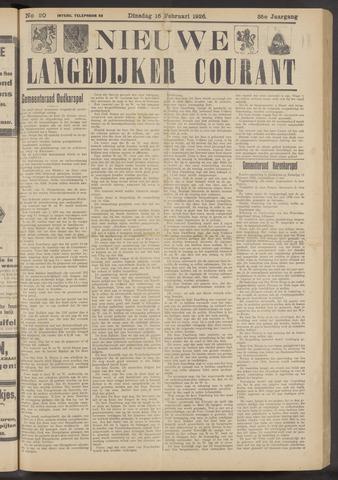 Nieuwe Langedijker Courant 1926-02-16