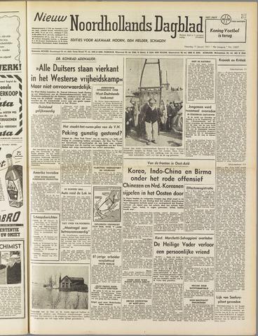 Nieuw Noordhollandsch Dagblad : voor Alkmaar en omgeving 1951-01-15