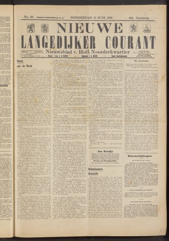 Nieuwe Langedijker Courant 1931-06-11