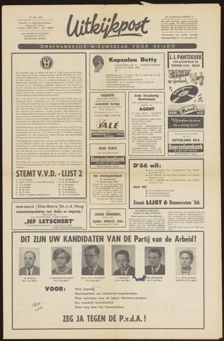 Uitkijkpost : nieuwsblad voor Heiloo e.o. 1970-05-27