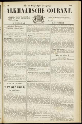 Alkmaarsche Courant 1891-11-25