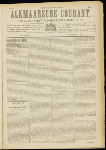 Alkmaarsche Courant 1914-02-20