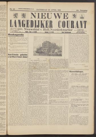 Nieuwe Langedijker Courant 1932-04-23