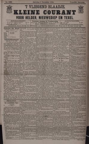 Vliegend blaadje : nieuws- en advertentiebode voor Den Helder 1884-11-01