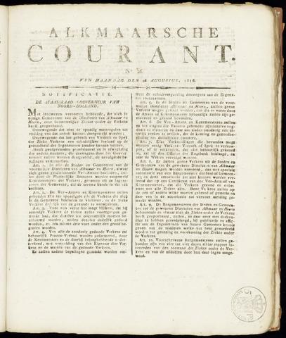 Alkmaarsche Courant 1816-08-26