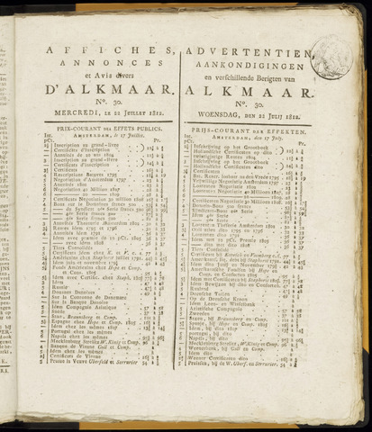 Alkmaarsche Courant 1812-07-22