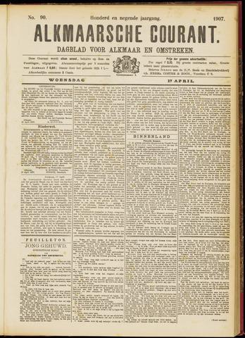 Alkmaarsche Courant 1907-04-17