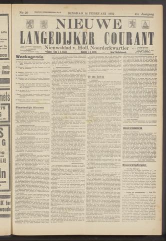 Nieuwe Langedijker Courant 1932-02-16