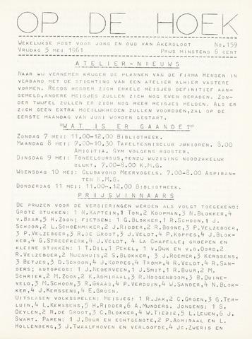 Op De Hoek, weekblad voor Akersloot 1961-05-05