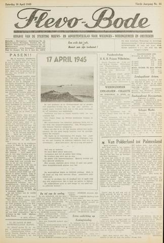 Flevo-bode: nieuwsblad voor Wieringen-Wieringermeer 1949-04-16