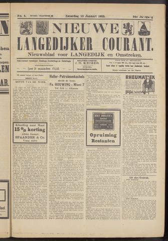 Nieuwe Langedijker Courant 1925-01-10