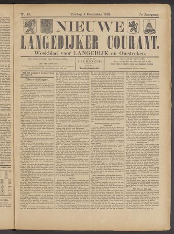 Nieuwe Langedijker Courant 1898-12-04