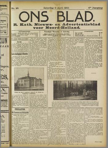 Ons Blad : katholiek nieuwsblad voor N-H 1910-04-09