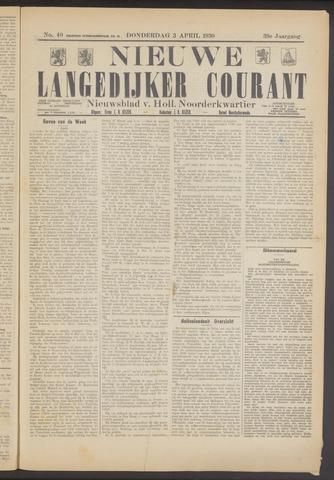 Nieuwe Langedijker Courant 1930-04-03